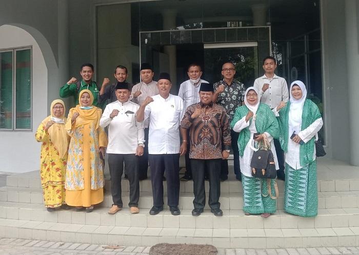 Pengurus Al Washliyah Silaturahim Bersama Pengurus MUI Riau, Siap Dukung Program MUI